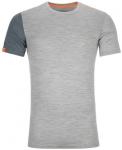 ORTOVOX Herren Shortsleeve 185 ROCK'N'WOOL SHORT SLEEVE M, Größe XL in grey