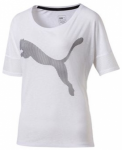 PUMA Damen Trainingsshirt Loose T-Shirt, Größe M in Grau