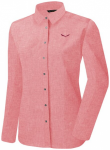 SALEWA Damen Hemd Fanes Linen W L/s Srt, Größe 42 in Mineral Red Melange