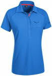 SALEWA Damen Shirt Alpina Dry W S/s Polo, Größe 38 in Blau