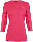 SALEWA Damen Shirt PEDROC 2 DRY, Größe 38 in virtual pink melange