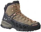 SALEWA Damen Trekkingstiefel WS Alp Flow Mid GTX, Größe 37 in Walnut/Peach Cor