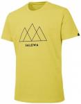SALEWA Herren Shirt Overlay Dry M S/s TEE, Größe S in Kamille Yellow