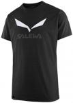 SALEWA Herren Shirt SOLIDLOGO DRI-REL M S/S TEE, Größe L in Schwarz
