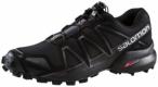 SALOMON Damen Trail Running Laufschuhe Speedcross 4, Größe 38 2/3 in Schwarz