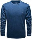 SCHÖFFEL Herren Unterhemd Merino Sport Shirt 1/1 Arm M, Größe M in Blau