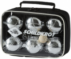 SCHILDKRÖT Boule-Set in Silber