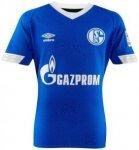 UMBRO Herren Fußballtrikot 18/19 FC Schalke 04 Home Kurzarm, Größe M in Blau