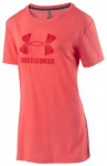 UNDER ARMOUR Damen Trainingsshirt Threadborne mit Logo Kurzarm, Größe M in Ora