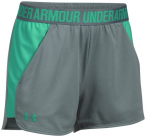 UNDER ARMOUR Damen Trainingsshorts UA Play Up 2.0, Größe L in Grau
