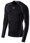 UNDER ARMOUR Herren Kompressions-Shirt Langarm HeatGear Armour, Größe L in Sch