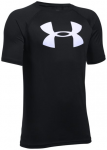 UNDER ARMOUR Kinder Shirt UA TECH BIG LOGO SS, Größe S in Schwarz
