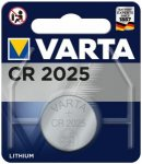 VARTA Akku Batterie Knopfzelle CR 2025, Größe 1 in Silber