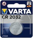 VARTA Akku Batterie Knopfzelle CR 2032, Größe 1 in Silber