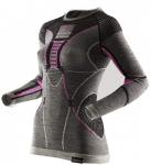 X-BIONIC Damen Shirt APANI MERINO BY FASTFLOW, Größe L-XL in Black/Grey/Pink