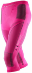 X-BIONIC Damen Tight LADY ACC_EVO UW PANTS, Größe XS in Pink/Charcoal