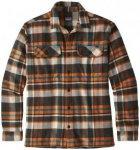 Patagonia Long-Sleeved Fjord Flannel Shirt Hemd basin/marigold
