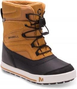 Merrell Snow Bank 2.0 Waterproof Kinderschuhe braun,wheat/black