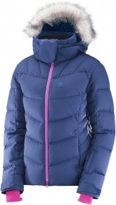Salomon Icetown Jacket W Skijacke Damen lila,medieval blue heather