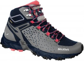 Salewa WS Alpenrose Ultra Mid GTX Wanderschuh Damen grau 6.0, Gr. 6.0
