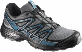 Salomon Wings Flyte 2 men Trail-Running-Schuh Herren dunkelgrau,quiet shade/black/mallard blue 7.0, Gr. 7.0
