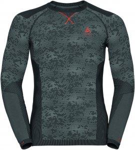 Odlo Blackcomb Evolution Warm Shirt l/s men Herren grau