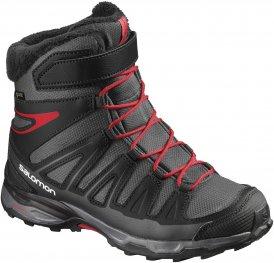 Salomon X-Ultra Winter GTX Junior Winterschuh Kinder dunkelgrau,asphalt/black/radiant red