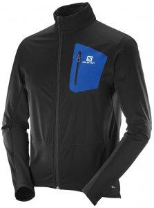 Salomon Equipe Softshell Jacket M Softshelljacke Herren schwarz,black/blue yonder