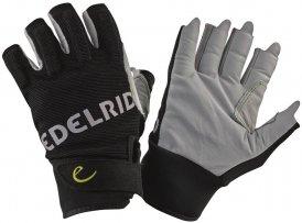 Edelrid Work Glove Open Klettersteig-Handschuhe schwarz,snow