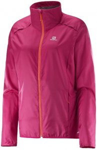 Salomon Agile Jacket W Windjacke Damen pink,gaura pink S, Gr. S