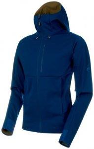 Mammut Ultimate V SO Hooded Jacket Herren Softshelljacke blau XXL, Gr. XXL