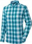 Salewa Fanes Check Dry W L/S Shirt Bluse Damen blau