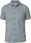 Fjällräven High Coast Shirt SS Kurzarmhemd Herren blau / grün