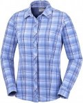 Columbia Saturday Trail Stretch Plaid L/S Shirt women Wanderbluse Damen blau kar