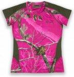 Pinewood Ramsey Camouflage T-Shirt Ladies Damen pink M, Gr. M