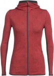 Icebreaker Away LS Zip Hood Showers women Kapuzenjacke Damen rot XS, Gr. XS
