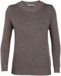 Icebreaker Waypoint Crewe Sweater Women Pullover Damen braun S, Gr. S