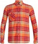 Salewa Fanes Flannel 3 PL M L/S Shirt Langarmhemd Herren rot S, Gr. S