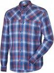 Salewa Fanes Flannel PL M L/S Shirt Langarmhemd Herren blau kariert 52, Gr. 52
