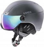 Uvex hlmt 400 visor style Skihelm grau 53-58cm, Gr. 53-58cm
