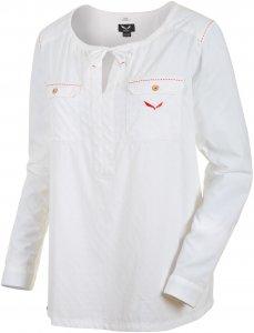 Salewa Fanes Tunica Dry W L/S Shirt Damen weiß 34, Gr. 34