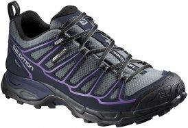 Salomon X Ultra Prime CS WP women Hikingschuh Damen grau,pearl grey/deep blue/rain purple