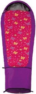 Grüezi Bag Kids Butterfly - Schlafsack für Kinder lila-print links