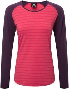 Mountain Equipment Women's Redline Longsleeve Tee - Langarmshirt virtual pink stripe-blackberry L