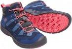 KEEN Hikeport Mid Waterproof Youth - Wanderschuhe dress blue-sugar coral 35,0