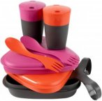 Light My Fire Pack'n Eat Kit - Geschirrset fuchsia-orange
