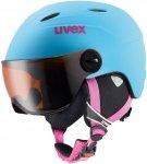 Uvex Kinder Skihelm Junior Visor Pro Liteblue