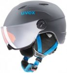 Uvex Kinder Skihelm Junior Visor Pro Titanium-blue