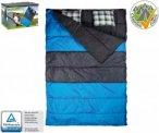 Happy People 2-Personen-Steppdeckenschlafsack (Herren bis 5°C / max. Liegeläng