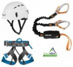 Klettersteigset Black Diamond Easy Rider + Salewa Evo Gurt + Salewa Toxo Helm -